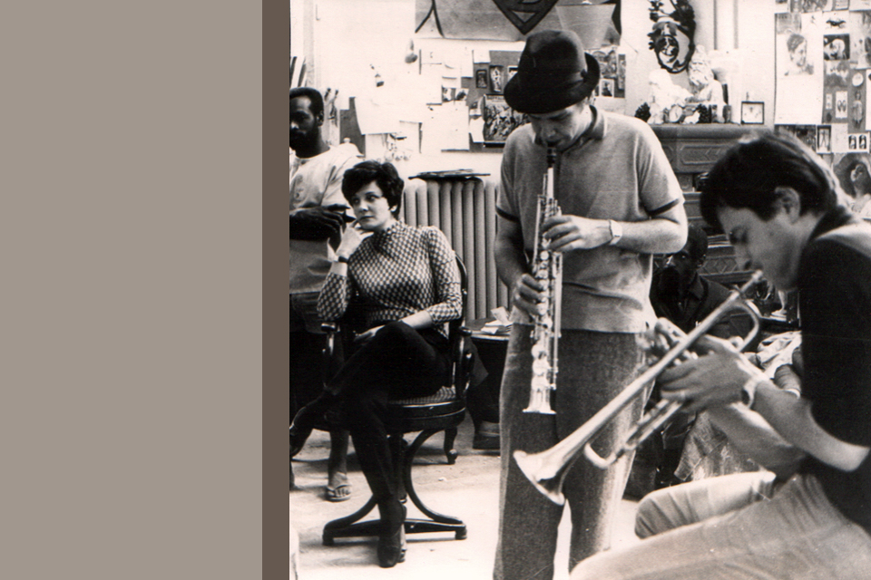 Lilian Terry with Steve Lacy and Enrico Rava - Rome, mid 1960s
