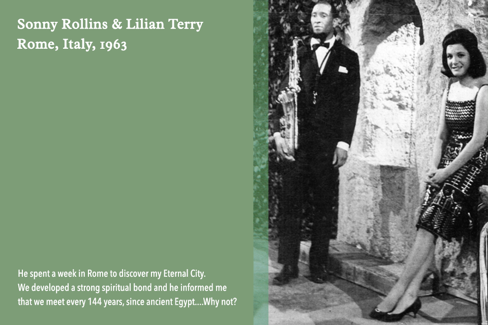Lilian Terry and Sonny Rollins in Rome, Italy